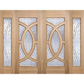 LPD Majestic Victorian Unfinished Oak with Bevelled Double Glazing External Front Door