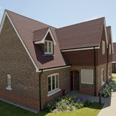 marley plain tile lifestyle side view of house