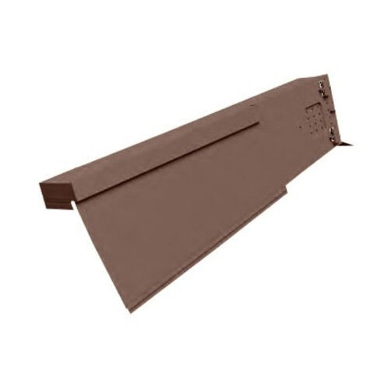 marley universal dry verge unit in brown   left hand 51653