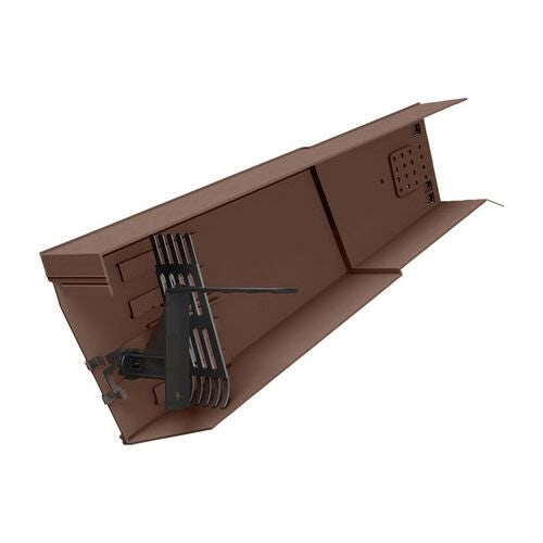 marley universal dry verge unit in brown   left hand 51654