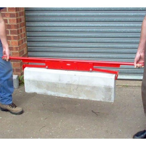 mustang tools end gripping kerb slab lifter in use