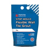 Norcros Adhesives Stop Mould Wall White Tile Grout - 5KG