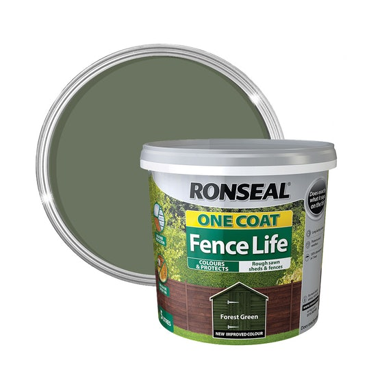 ronseal one coat fence life forest green copy