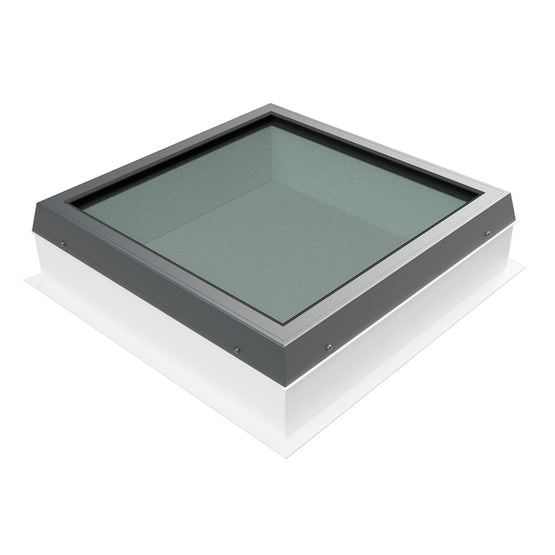 roofing superstore dbl glazed flat glass fixed rooflight