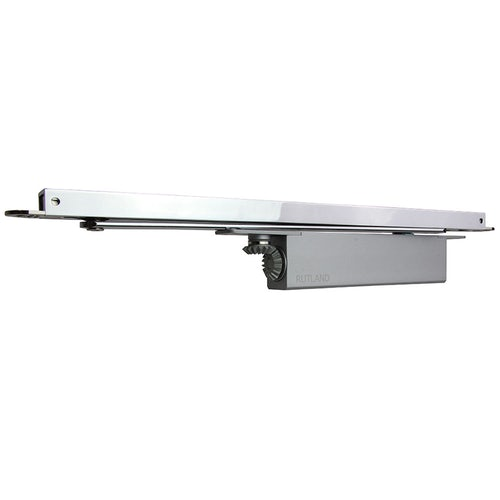 Rutland ITS.11204 Concealed Cam Action FD120 Fire Rated Door Closer with SA Connector Bar Polished Nickel