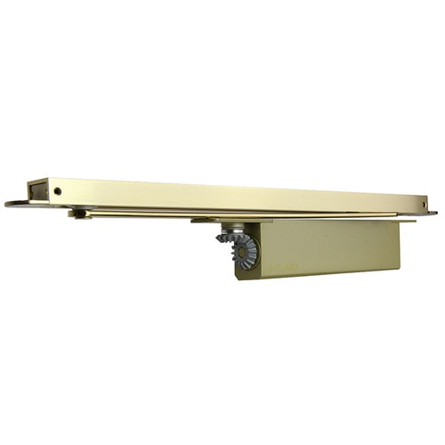 Rutland ITS.11205 Concealed Cam Action Door Closer with SA Connector Bar Polished Brass