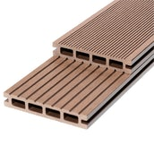 RynoTerraceDeck Classic Reversible Grooves Chocolate  Decking Board - 3000mm