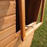 shire 6ft x 4ft shiplap pent shed window exterior open