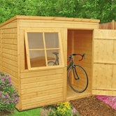 shire 7ft x 7ft shiplap pent shed lifestyle