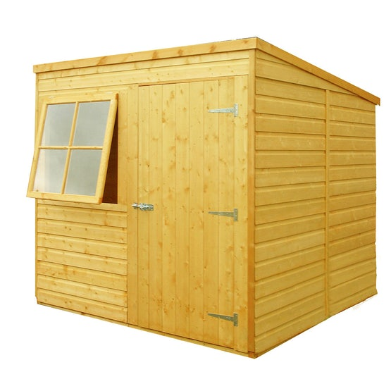 shire 7ft x 7ft shiplap pent shed primary
