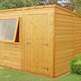 shire 8ft x 6ft pent shiplap shed lifestyle