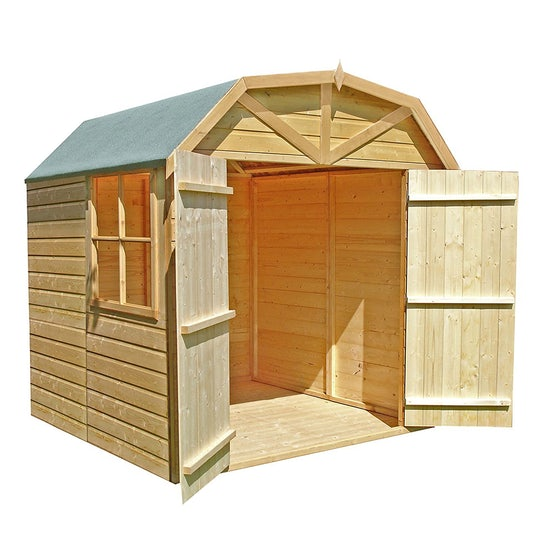 shire barn shiplap shed 7ft 7ft primary