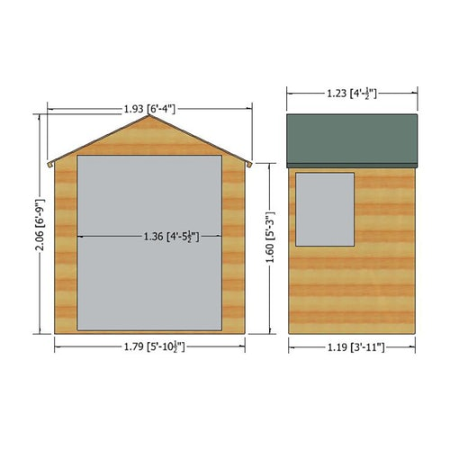 shire bute dt shiplap shed dimensions