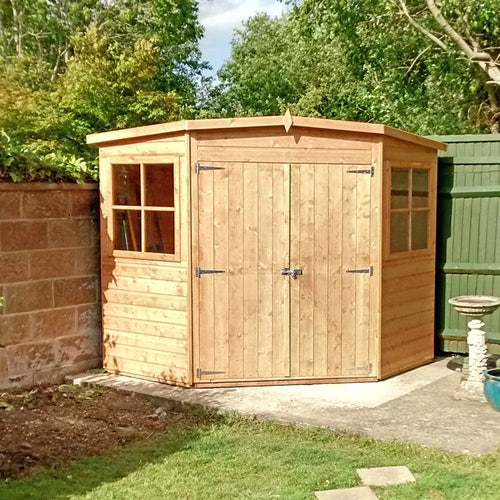 shire garden buildings 7ft 7ft corner shed lifestyle 2