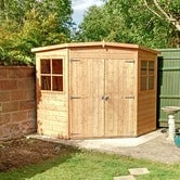 shire garden buildings 8ft 8ft corner shed lifestyle