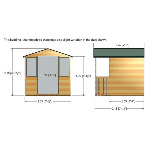 shire houghton summerhouse 7ft x 7ft 11