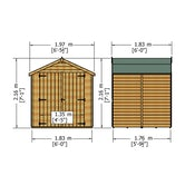 shire overlap apex shed 6ft x 6ft 12