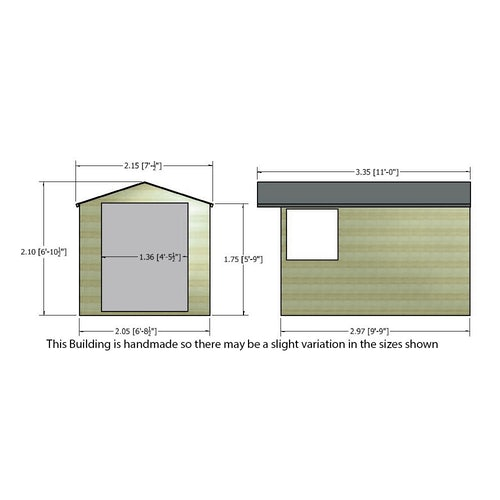 shire pressure treated overlap apex shed 10ft x 7ft 10
