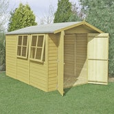 shire pressure treated overlap apex shed 10ft x 7ft 2