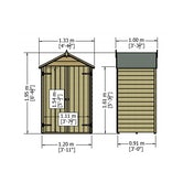 shire pressure treated overlap apex shed 4ft x 3ft 6