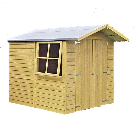 shire pressure treated overlap apex shed 7ft x 7ft 1