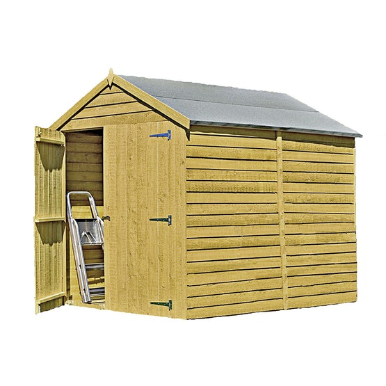 shire pressure treated overlap apex shed 8ft x 6ft 1
