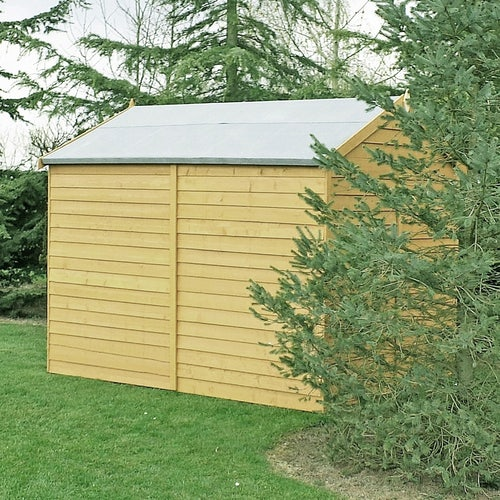 shire pressure treated overlap apex shed 8ft x 6ft 2