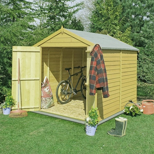 shire pressure treated overlap apex shed 8ft x 6ft 4