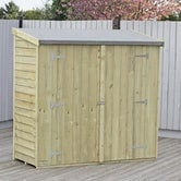 shire pressure treated overlap pent shed 6ft x 3ft 2
