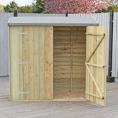 shire pressure treated overlap pent shed 6ft x 3ft 3