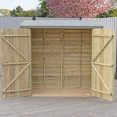 shire pressure treated overlap pent shed 6ft x 3ft 4