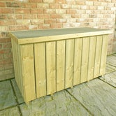shire pressure treated planed timber log box 4ft 2ft 3
