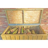 shire pressure treated planed timber log box 4ft 2ft 6