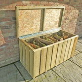 shire pressure treated sawn timber log box 4ft 2ft 1