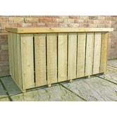 shire pressure treated sawn timber log box 4ft 2ft 3