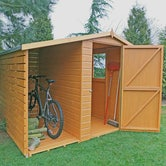 shire shiplap apex shed and log store 7ft 6ft 1