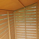shire shiplap apex shed and log store 7ft 6ft 5