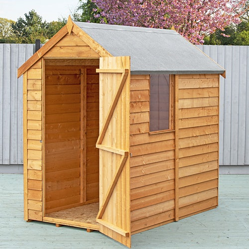 shire super value window overlap apex shed 6ft x 4ft5