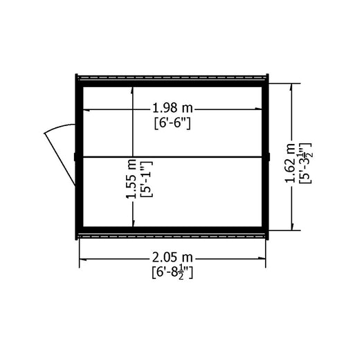 shire super value window overlap apex shed 7ft x 5ft 10
