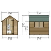 shire super value window overlap apex shed 7ft x 5ft 9
