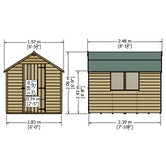 shire super value window overlap apex shed 8ft x 6ft 12