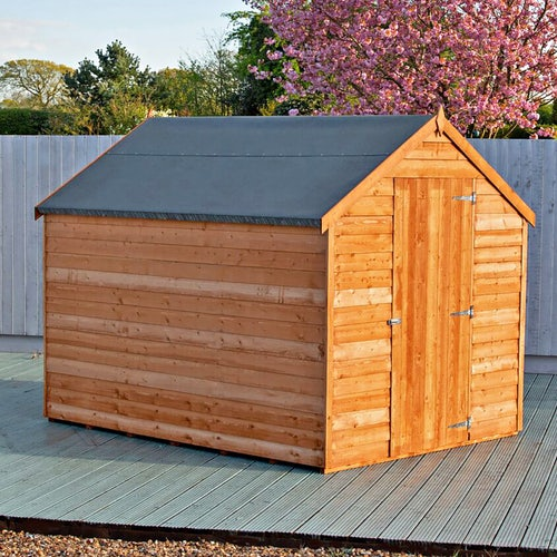 shire super value window overlap apex shed 8ft x 6ft 3