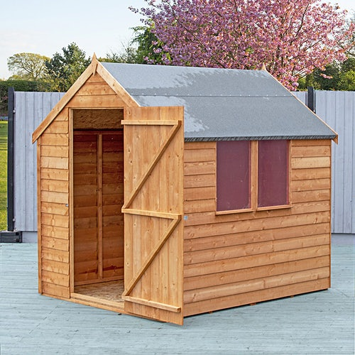 shire super value window overlap apex shed 8ft x 6ft 6
