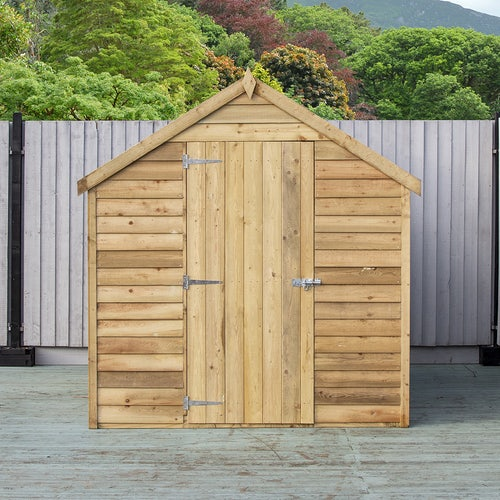 shire super value window pressure treated overlap apex shed 8ft 6ft 5
