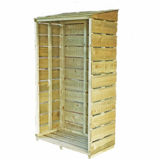 shire tall wall pt sawn log store 3ft 1.5ft 1