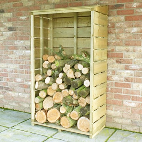 shire tall wall pt sawn log store 3ft 1.5ft 3