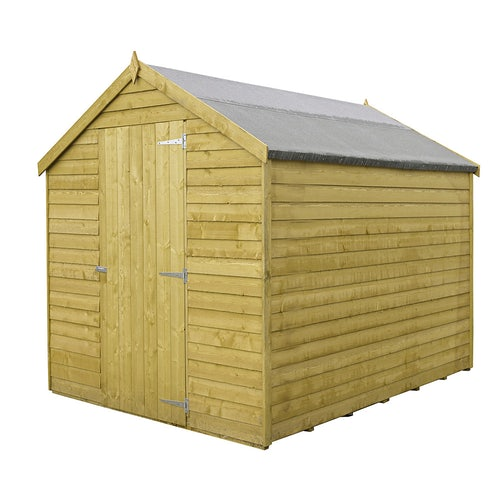shire value pressure treated overlap apex shed 2