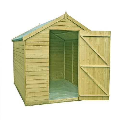 shire value pressure treated overlap apex shed 3