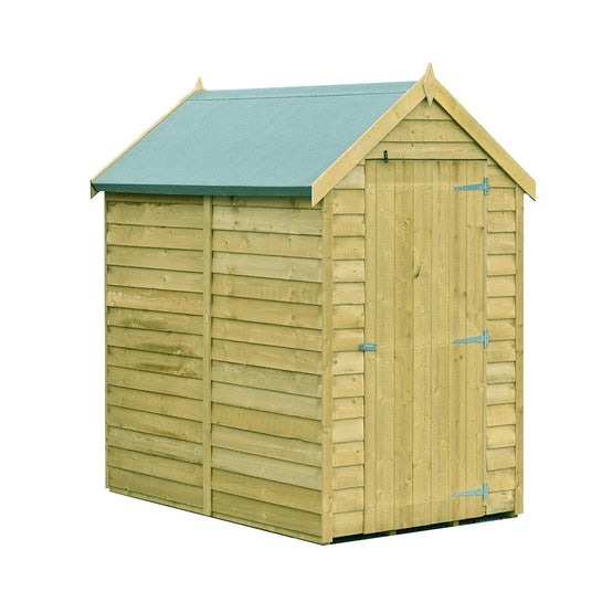 shire value pressure treated overlap apex shed 6ft x 4ft 1