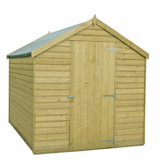 shire value pressure treated overlap apex shed 8ft x 6ft 1
